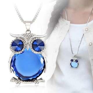 BN Fashion Owl Pendant Necklace