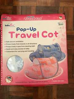 Travel cot baby