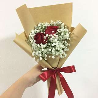 Red Roses Bouquet / Anniversary Bouquet / Birthday Bouquet