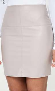 Grey leatherette skirt
