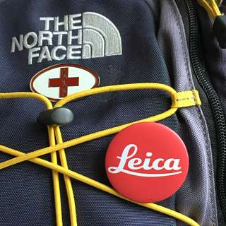 Leica button pin keychain