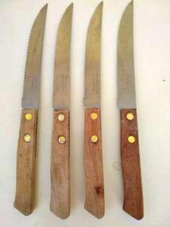 Pisau gagang kayu tramontina stainless brasil 9 pcs