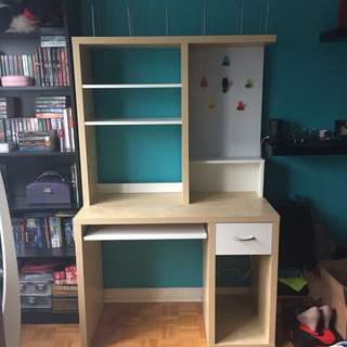 Computer Desk and Shelving Unit