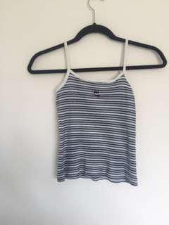 Stripe spaghetti straps top