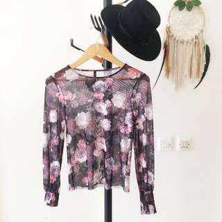 Stadivarius Floral Top