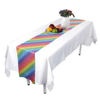 Rainbow sequin table runner [PO]