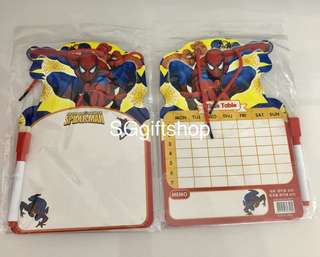 Whiteboard with marker (spiderman) / theme party goodies bag, goody bag packages