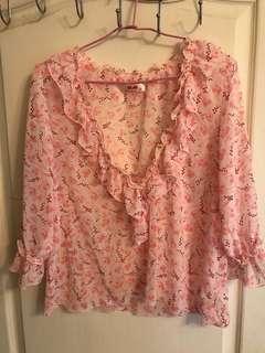 🚚 H2O粉色罩衫(二手)