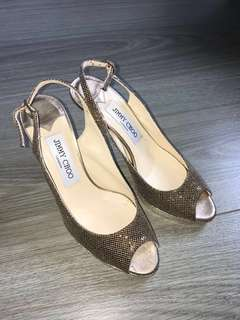 Jimmy Choo open toe Heels 晚裝鞋