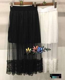 🚚 半透明紗裙(黑)