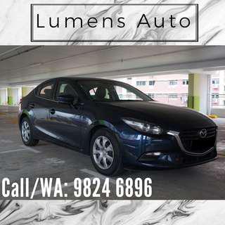Mazda 3 - Car Rental for Grab/Uber/Personal use! Long term/Short term