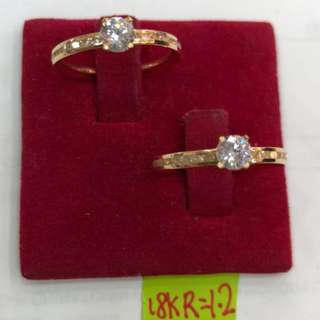 ENGAGEMENT RING 18K SAUDI GOLD