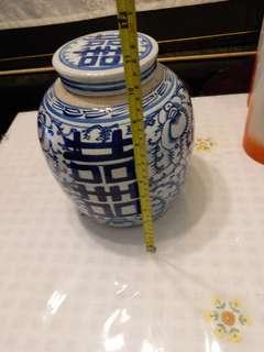 清末时期囍子罐一個