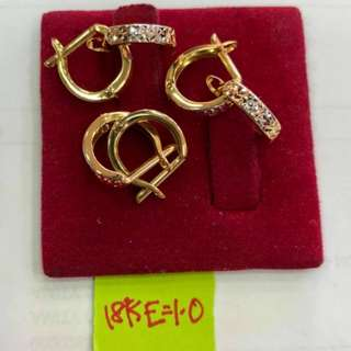 LOOP EARRING SMALL 18K SAUDI GOLD
