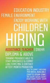 Part Time Assistant Teacher