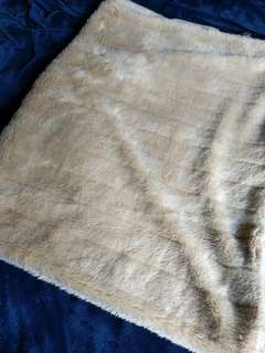 Light brown fur blanket