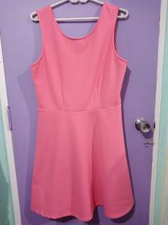Pink Plus size casual dress