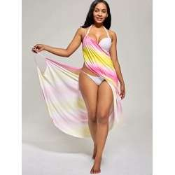 Ombre Wrap Cover Up Dress  TG