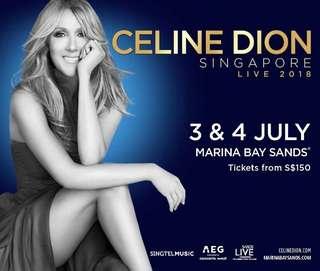 Celine dion cat B tickets read description pls!