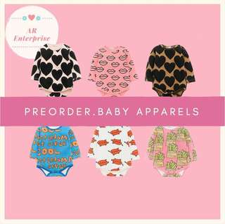 🚚 💌PREORDER hot selling baby rompers