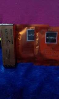Serum hanasui gold + 2 pcs masker naturgo