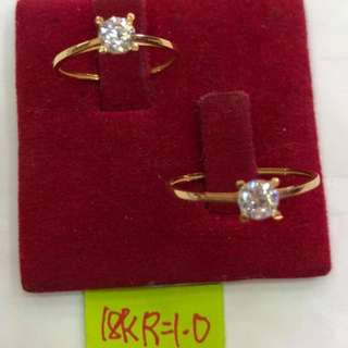 RING SIZE AVAILABLE 18K SAUDI GOLD