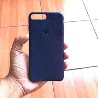 IPHONE 7 PLUS LEATHER CASE ORI BLUE/BIRU