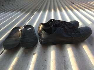 Converse rubber mono black original 100%