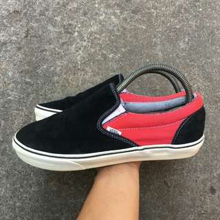 Vans Slipon red black
