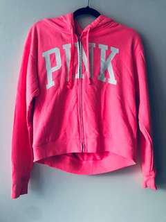 PINK Zip Up Sweater