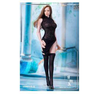 b407efe61fb Manmodel 1 6 figure clothing series MM015 High split translucent cheongsam  dress suit Two