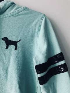 PINK Zip Up Sweater (Teal)