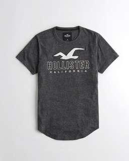 🚚 Hollister圓領logo短袖T恤(正品 現貨)