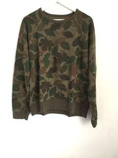 H&M Army Green Mens Sweater