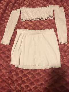 White zaful set