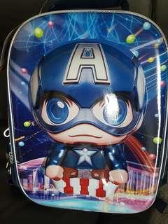Captain America waterproof bag with 6 wheels trolley for kid