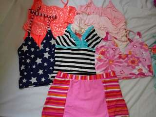 5pcs. tank tops (take all) with free skirt
