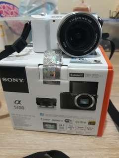 Sony A5100 bru 1 minggu pakai like new Garansi Resmi Sony