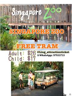 SINGAPORE ZOO WITH FREE TRAM (OPEN DATE)