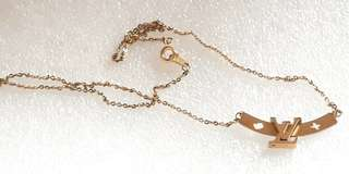 Euro design stainless steel gold necklace