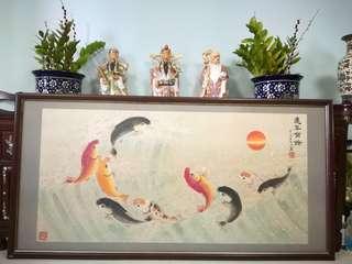 Chinese Painting,年年有鱼