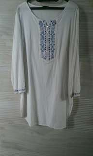 Tunik White Contempo Women