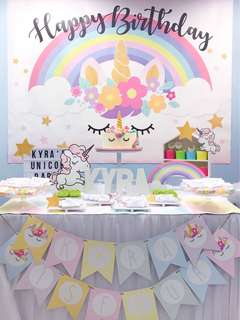 Customized Backdrop for Parties