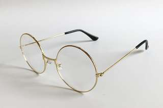 Gold Round frame clear glasses