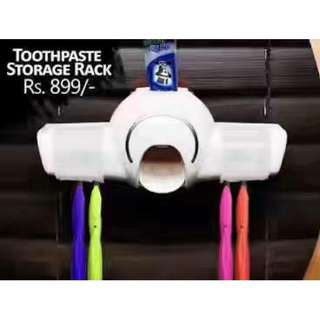 toothpaste storage rack