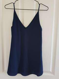 Forever New Navy Blue Singlet Top size 4 *free shipping*