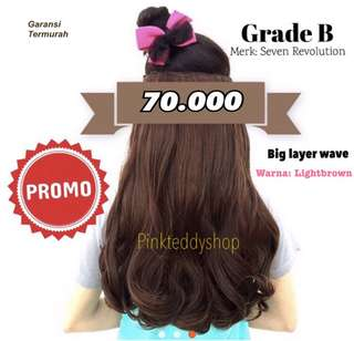 HAIR CLIP MURAH (big layer wave)