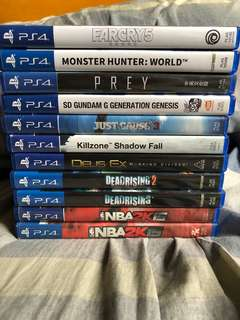 Ps4 games farcry monster hunter prey nba gundam