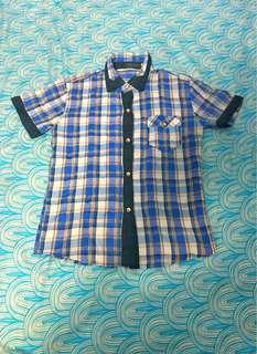 Blue Checkered Polo