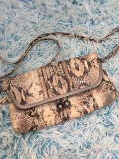 Aunthentic Jessica Simpson Snakeskin Crossbody bag